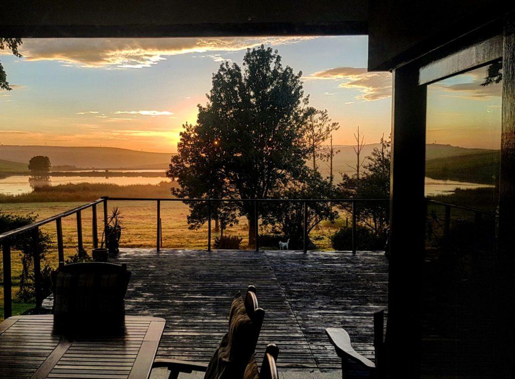 sunrise from sun deck